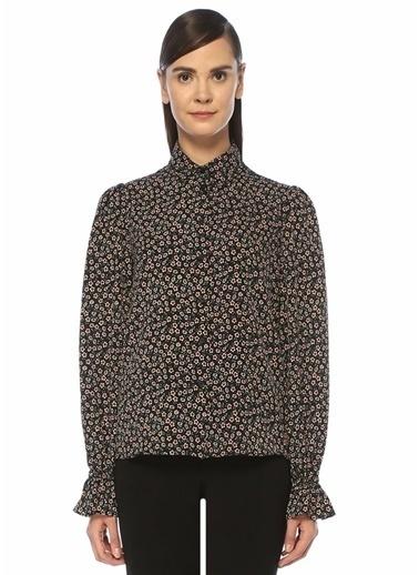 Beymen Club Beymen Club  İngiliz Yaka Çiçek Desenli Gömlek 101393273 Siyah